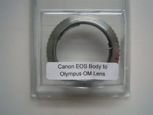 Lens to body adapter Olympus OM lens to Canon EOS Body